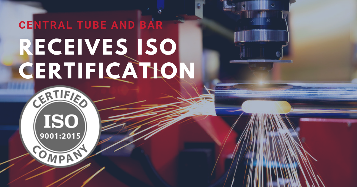 ISO certification at Central Tube and Bar